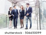 businesspeople meeting on the... | Shutterstock . vector #506650099