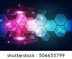 abstract digital technology.... | Shutterstock .eps vector #506655799
