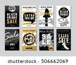 set of black friday sale... | Shutterstock .eps vector #506662069