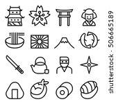 basic japan icon   symbol in...