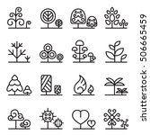 tree icon set in thin line style | Shutterstock .eps vector #506665459