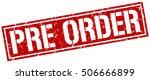 pre order. grunge vintage pre... | Shutterstock .eps vector #506666899