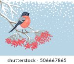 Winter Snowy Card With...
