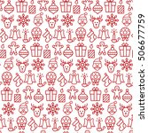 seamless pattern with icons of... | Shutterstock .eps vector #506677759