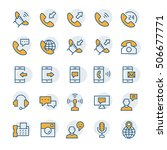 communication and phone icon... | Shutterstock .eps vector #506677771