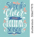spread cheer this holiday... | Shutterstock .eps vector #506677975