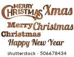 vintage alphabet   christmas... | Shutterstock . vector #506678434