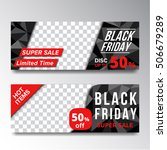 set of sale black friday banner  | Shutterstock .eps vector #506679289