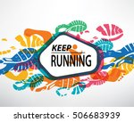 foots and snickers stamps on... | Shutterstock .eps vector #506683939