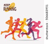 running people set of... | Shutterstock .eps vector #506683951