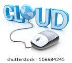 modern grey computer mouse... | Shutterstock . vector #506684245