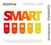 smart goals diagram template | Shutterstock .eps vector #506684521