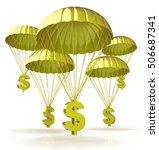 golden parachutes. dollar signs ... | Shutterstock . vector #506687341