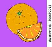 orange on purple background....   Shutterstock .eps vector #506692015