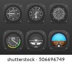 flight instrument on a black... | Shutterstock .eps vector #506696749