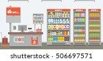 supermarket interior | Shutterstock .eps vector #506697571