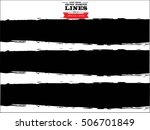 set of grunge lines. isolated... | Shutterstock .eps vector #506701849