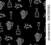 wine white line seamless... | Shutterstock .eps vector #506705581