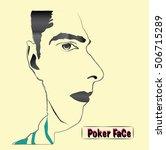 a cartoon face illusion. vector ... | Shutterstock .eps vector #506715289