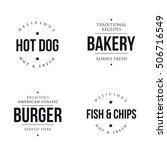 bakery  hot dog  burger  fish... | Shutterstock .eps vector #506716549