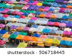 multiple colours top view... | Shutterstock . vector #506718445