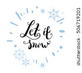 let it snow again   Shutterstock .eps vector #506719201