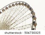 Ferris Wheel Stops On White...