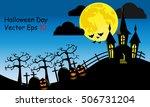 halloween day wallpaper | Shutterstock .eps vector #506731204