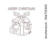 merry christmas line. santa...   Shutterstock .eps vector #506735305