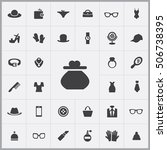 wallet icon. accessories icons... | Shutterstock .eps vector #506738395