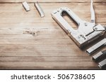 tools laid out on the table. | Shutterstock . vector #506738605