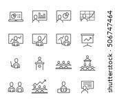 business presentation vector... | Shutterstock .eps vector #506747464