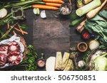 various fresh organic... | Shutterstock . vector #506750851