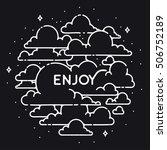 vector vintage clouds...   Shutterstock .eps vector #506752189