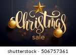 christmas sale  new year... | Shutterstock .eps vector #506757361