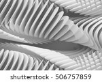 3d abstract curved lines... | Shutterstock . vector #506757859