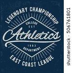 vintage typography  t shirt... | Shutterstock .eps vector #506761801