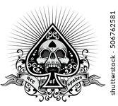 ace of spades  grunge.vintage | Shutterstock .eps vector #506762581