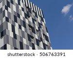 facades of buildings in a... | Shutterstock . vector #506763391