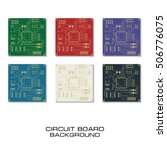 set of circuit board pcb... | Shutterstock .eps vector #506776075