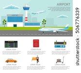airport passenger terminal and... | Shutterstock .eps vector #506776339