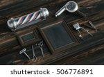 barber shop identity mockup... | Shutterstock . vector #506776891
