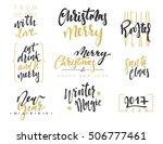 merry christmas lettering...   Shutterstock .eps vector #506777461