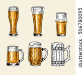 set of vector icons  full glass ... | Shutterstock .eps vector #506780095