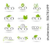 eco friendly organic natural... | Shutterstock .eps vector #506781499