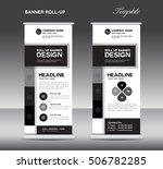 black and white roll up banner...   Shutterstock .eps vector #506782285