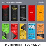 collection of colorful roll up... | Shutterstock .eps vector #506782309