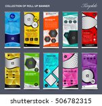 collection of colorful roll up... | Shutterstock .eps vector #506782315
