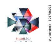 glossy glass modern triangle... | Shutterstock . vector #506786035