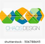 abstract background with round... | Shutterstock . vector #506788645